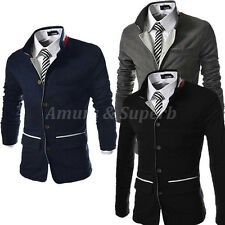 FASHION Men's Slim Fit Stand Collar Suit Coats Jackets Blazers Casual Overcoat