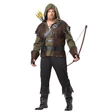 Mens Robin Hood Green Arrow Suit Prince Of Thieves Cosplay Fancy Dress Costume