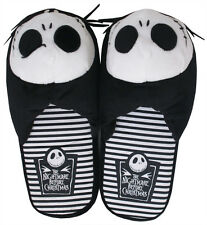 Nightmare Before Christmas Jack Skellington Disney Movie Mens Plush Slippers
