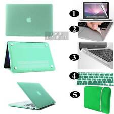 Green Frosted Matte Rubberized Hardshell Hard Case Cover For Apple MacBook