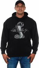 Carroll Shelby Cobra Hoodie Pullover Black Screen Print Sweatshirt Jacket