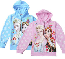Disney Frozen Elsa Princess Snowflak Kids Girls Hoodie Coat Clothes jacket