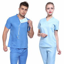 DOCTOR NURSE MEDICAL SURGEON BLUE SCRUBS SUIT UNIFORM FANCY DRESS COSTUME