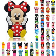 Silicone Rubber Cute Cartoon Patterned Case Cover For iPhone 4/4S 5/5S