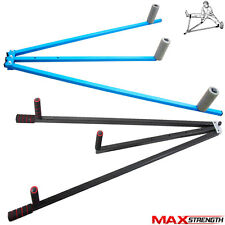 MAXSTRENGTH Metal Leg Stretcher Heavy Duty 3 Bar Fitness Stretching Gym Exercise
