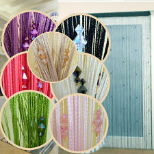 Romantic Decorative String Curtain With 3 Beads Door Window Panel Room Divider