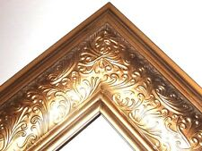 "3.5"" Wide Metalic Gold Ornate Canvas Picture Frame-Custom Made Standard Sizes"