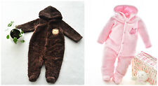 sale 1 baby clothes Coral fleece girls boys romper outfits worm set for 0-9M R69