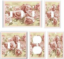 PINK VICTORIAN ROSES iMAGE 2   LIGHT SWITCH COVER PLATE OR OUTLETS U PICK PLATE