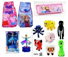 XMAS Frozen Princess Elsa Anna Peppa Pig Drawstring Backpack School Bag Gift