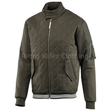 Adidas Firebird Jacket Green Originals Archive Classic Padded Quilted Coat Mens