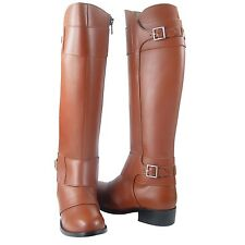 New Fammz Women's Motorcycle Riding Tall Knee High Leather Police Patrol Boots