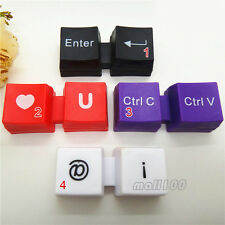 1 Pcs Cute Keyboard Multicolor Contact Lens Case Container Box Eye Care Vision