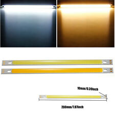 1/2x 10W COB LED Lamp Bulb DC12V 1000LM Pure/Warm White 200x10MM Strip Light Bar