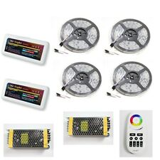 5-40M RGB 5050 IP68 Waterproof 300 LED Strip Set +Group RF Controller 2 Remote