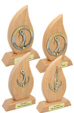 Personalised Light Oak Finish Golf Day Trophy Awards, Engraved With Any Text.
