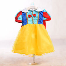 New Snow White Princess Tutu Costume Kid Outfit Fancy Dress Up Party For Girls