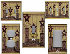 COUNTRY BARN STAR LIVE LOVE LAUGH - COUNTRY HOME DECOR LIGHT SWITCH PLATE