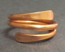 Solid Copper Wire Ring, Wrap Around, Hammered Ends, Any Size 3-15, #6