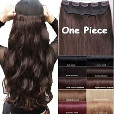 Magnificent Heat Resistant Synthetic Clip In Hair Extensions brown black blonde
