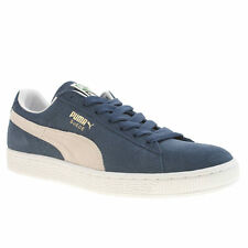 PUMA SUEDE CLASSIC MENS NAVY WHITE SUEDE TRAINERS