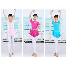 Princess Girl Gymnastics Tights Ballet Tutu Dress Soft Dancing Leotard Skirt E91