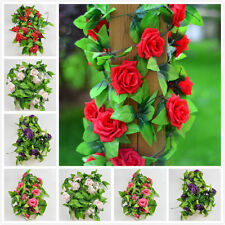 1x Silk Rose Flower Fake Artificial Ivy Vine Hanging Garland Wedding Home Decor