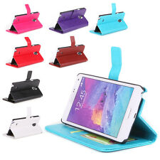 For SAMSUNG GALAXY NOTE 4 Luxury BOOK WALLET PU+PC Leather Phone Cover Case Hot