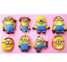 Silicone Fondant Cake Cookie Decorate Sugarcraft Mould Minions Despicable Me