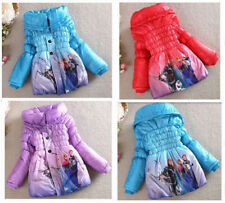 Disney Frozen Princess Elsa Anna Snowsuits Outwears Kids Slim Lined Coat Jacket