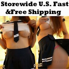 2 color student suits sexy lingerie dress+skirt+G-string babydoll clothes238