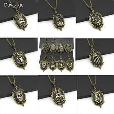 "Fashion Bronze Jewelry Black Hand Made Pendant 30"" Long Chain Necklace Gift CN06"