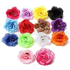 Wholesale Artificial Rose Silk Flower Heads Party Wedding Home Decor Craft DIY