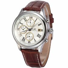 KS Imperial Day Date Month Analog Leather Wrist Men Automatic Mechanical Watch