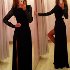 New Long Sexy Evening Party Ball Prom Gown Formal Cocktail Dress Black Sexy