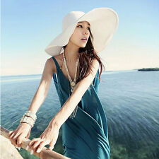 9 colors Women Cap Wide Large Brim Floppy Fold Summer Beach Sun Straw Beach Hat
