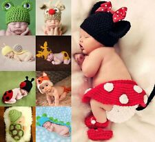 Cute Newborn Baby Infant Knitted Crochet Animal Costume Photography Prop Hats