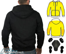 Motorcycle Hoodie Full Lined with Knitted Dupont™ Kevlar® CE Armour - XL
