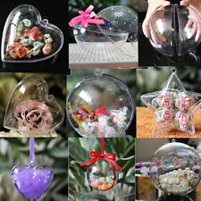 5Pcs Christmas Tree Decor Ornament Ball Type Box Clear Transparent Plastic Craft