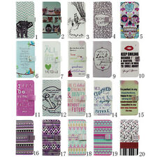 Faith Bible Verse On Stand Wallet Flip PU Leather Hard Case For iPhone & Samsung