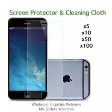 iPhone 6 Plus 6s Plus screen protectors and cleaning cloth wholesale job lot
