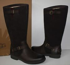 Ugg Thomsen waterproof stout brown leather women's boots New In Box