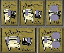 Laundry Wash Wall Decor Light Switch Plate Cover