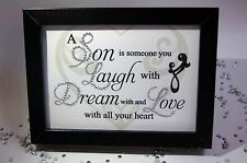 A Son Is Someone Love, Sparkle Word Art Pictures, Quotes, Sayings, Home Decor