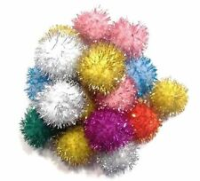 "1"" Sparkle Ball Cat Toy Glitter Pom Pom Kitten Fun Balls, You Choose Quantity!"