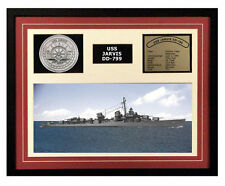 USS Jarvis DD 799 Framed Navy Ship Display
