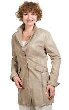Queen Short Coat for Women Real Leather Frock-Coat Lamb Nappa in Taupe