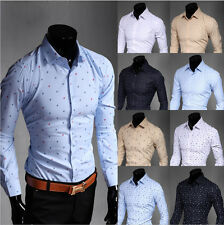 New Cool Men Long Sleeve Luxury Casual Slim Stylish Dress Shirts 20 Color 5 Size