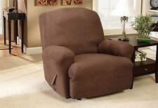 Stretch Rib Recliner Slip Cover Brown wine Tan Home Sure fit slipcover
