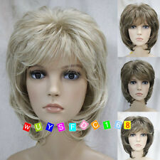 (4 colors) Short Curly Women Female Lady Hair Wig Perruque Good quality!+Wig Cap